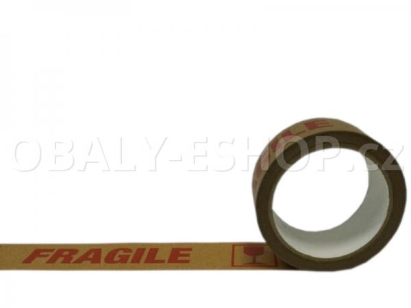 Potištěná lepicí páska Papírová 50mmx33m Ecopack FRAGILE