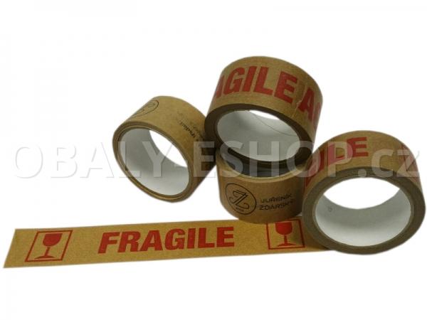 Potištěná lepicí páska Papírová 50mmx33m Ecopack 2 barvy