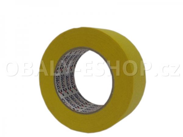 Krepová maskovací páska  50mmx50m Sicar Profi K120 WP Žlutá