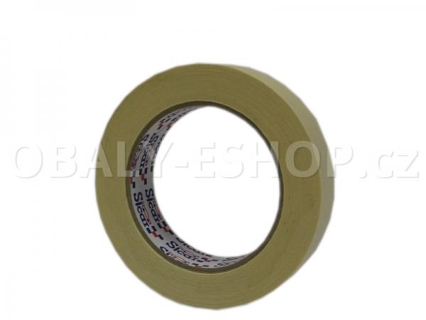 Krepová maskovací páska  25mmx50m Sicar Profi K90 Bílá