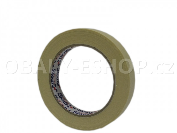 Krepová maskovací páska  19mmx50m Sicar Profi K90 Bílá