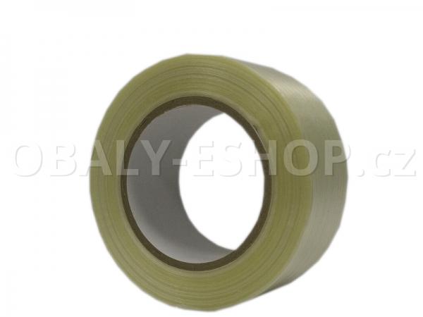 Lepicí páska zpevněná vlákny  50mmx50m Transp. filamentní 130µm