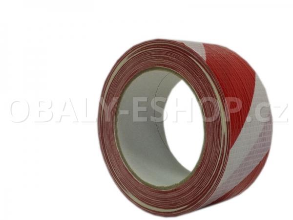 Výstražná lepicí páska ARGO 50mmx33m Pruhy Bílo-červené