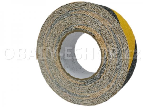 Protiskluzová samolepicí páska 50mmx18m Žluto-černá