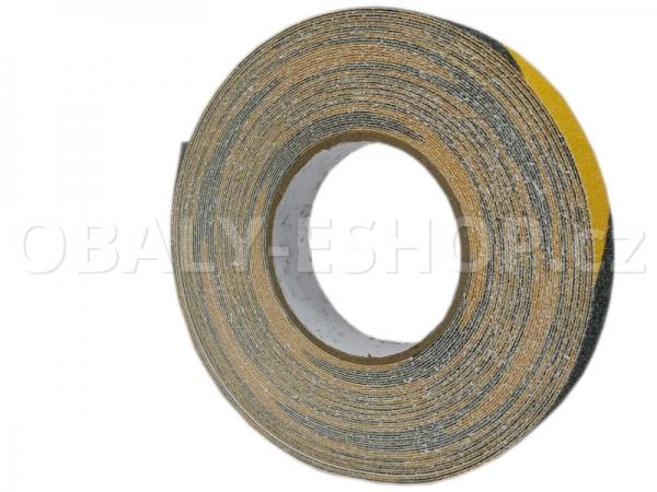 Protiskluzová samolepicí páska 25mmx18m Žluto-černá