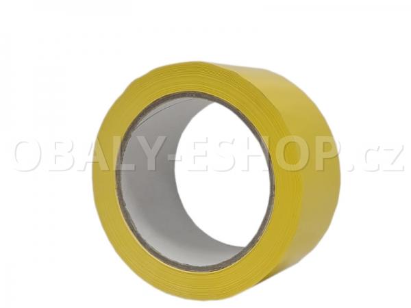 Výstražná lepicí páska PVC 50mmx66m 35µm Žlutá