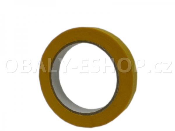 Krepová maskovací páska  19mmx50m Sicar Profi K120 WP Žlutá