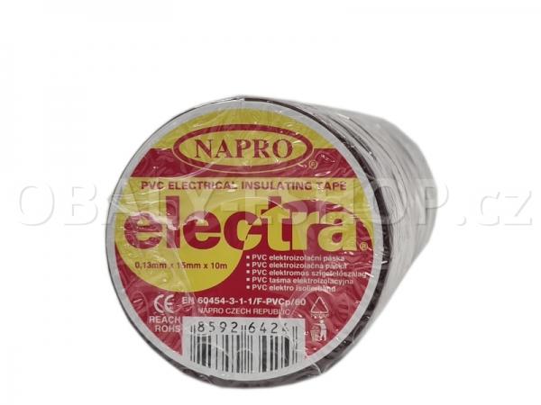 Izolační páska PVC 15mmx10m Hnědá