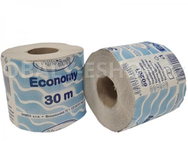 Toaletní papír P400 1vrstvý, recyklovaný 30m
