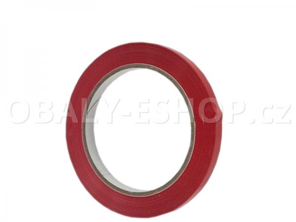 Lepicí páska PVC 9mmx66m Červená Solvent 59µm
