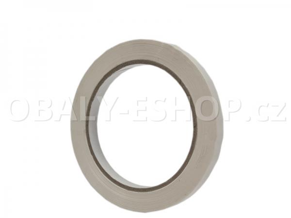 Lepicí páska PVC 9mmx66m Bílá Solvent 59µm