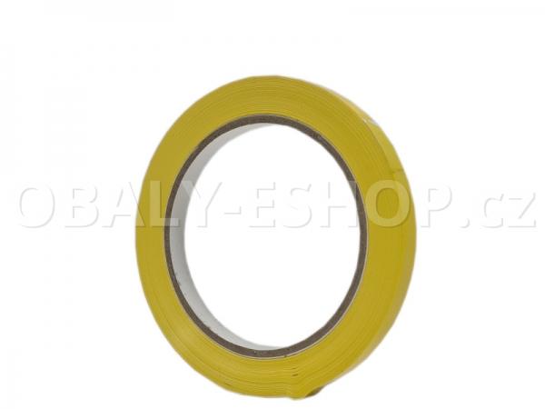 Lepicí páska PVC 9mmx66m Žlutá Solvent 59µm