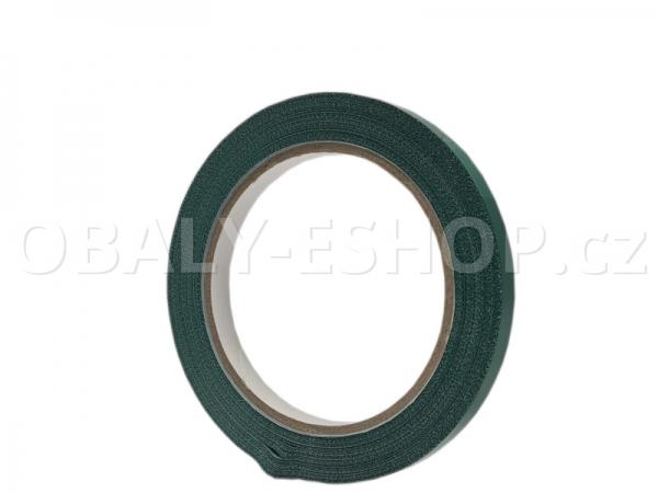 Lepicí páska PVC 9mmx66m Zelená Solvent 59µm