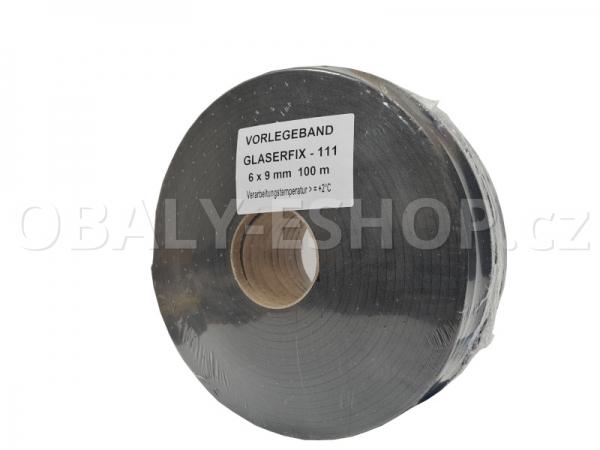 Těsnicí páska GLASERFIX111  9x6mmx10m PE Šedá