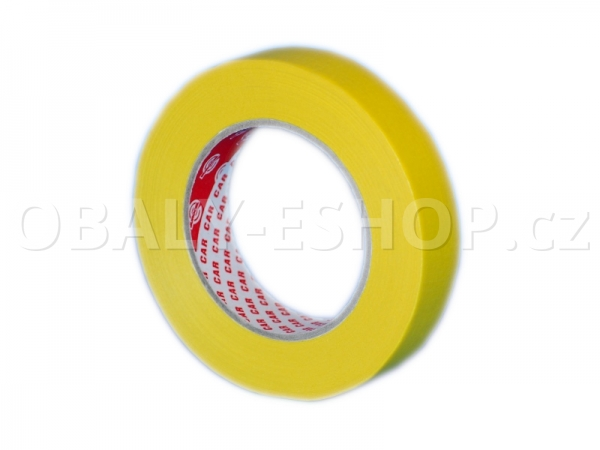 Krepová maskovací páska  25mmx50m Sicar Profi K120 WP Žlutá
