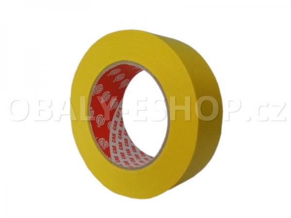 Krepová maskovací páska  38mmx50m Sicar Profi K120 WP Žlutá
