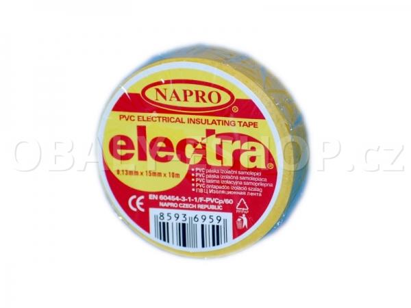 Izolační páska PVC 15mmx10m Žlutá