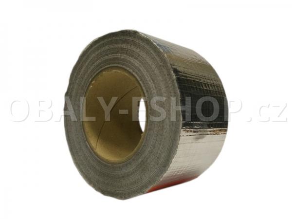 Hliníková lepicí páska 75mmx50m ALU 060 zesílená vlákny