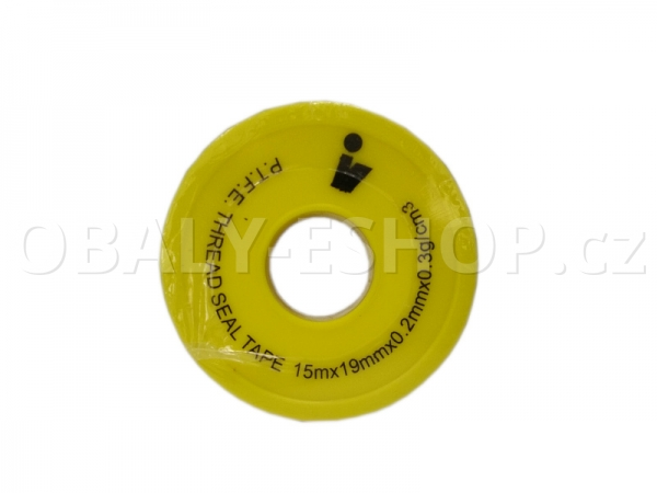 Teflonová páska PTFE 19x0,20mmx15m Plyn