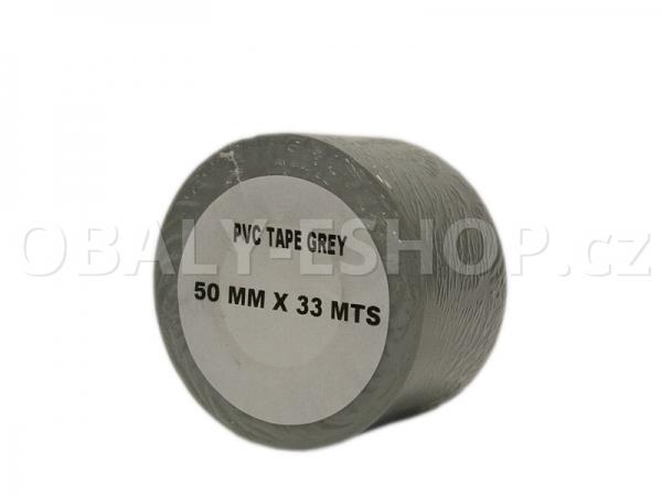 Izolační páska PVC 50mmx33m Šedá 130