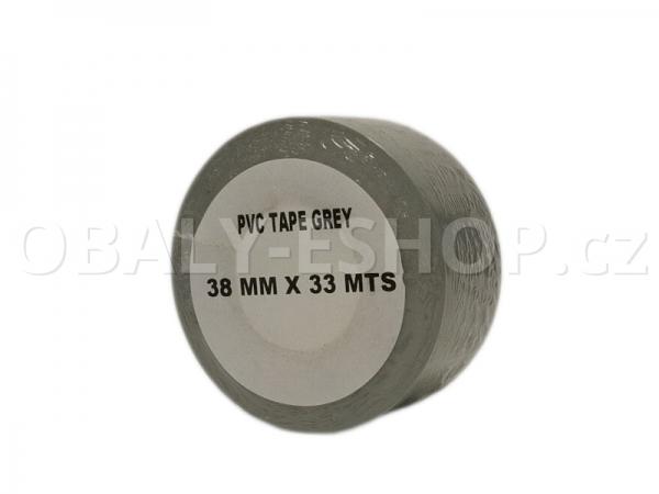 Izolační páska PVC 38mmx33m Šedá 130