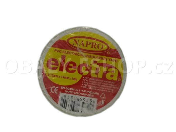 Izolační páska PVC 15mmx10m Bílá