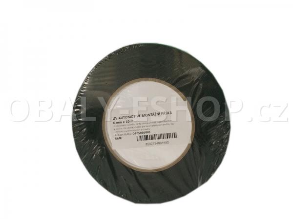 Oboustranná lepicí páska pěnová FA533  6x0,8mmx10m Černá