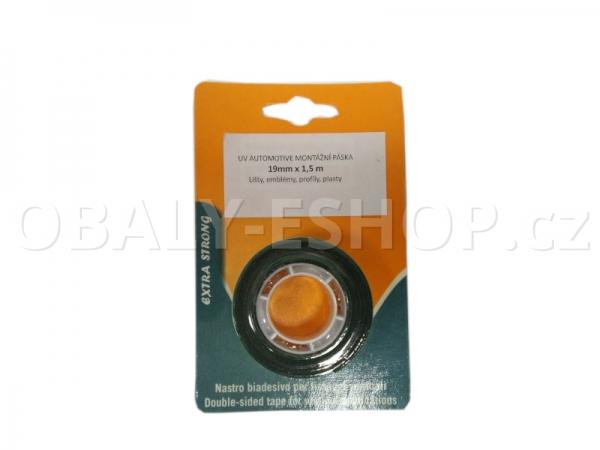 Oboustranná lepicí páska pěnová FA533 19x0,8mmx1,5m Černá Blistr