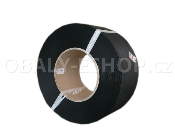 Vázací páska PP 12x0,50mm návin 3000m Dutinka 200mm Černá