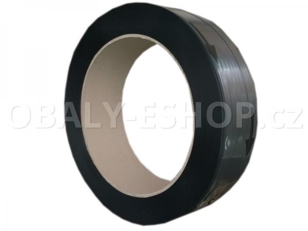 Vázací páska PP 15x0,65mm návin 1900m Dutinka 405mm Černá