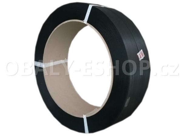 Vázací páska PP 15x0,90mm návin 1500m Dutinka 405mm Černá