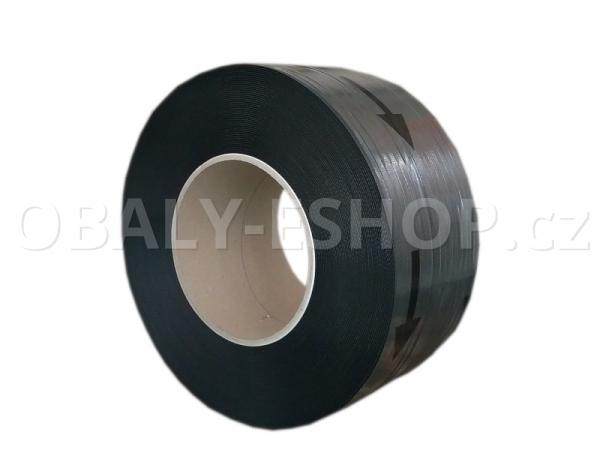 Vázací páska PP 12x0,70mm návin 2000m Dutinka 200mm Černá