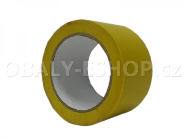 Výstražná lepicí páska PVC 50mmx33m 130µm Žlutá
